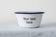 Your Text Here - Engraved Enamel Snack Bowl/Planter