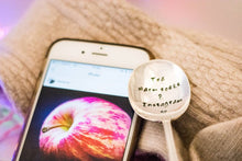 Tea Warm Socks & Instagram - Hand Stamped Vintage Teaspoon - One Mama One Shed