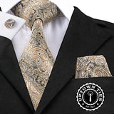 Gold Flake Perfection: 3pc Set - Uptown Ties