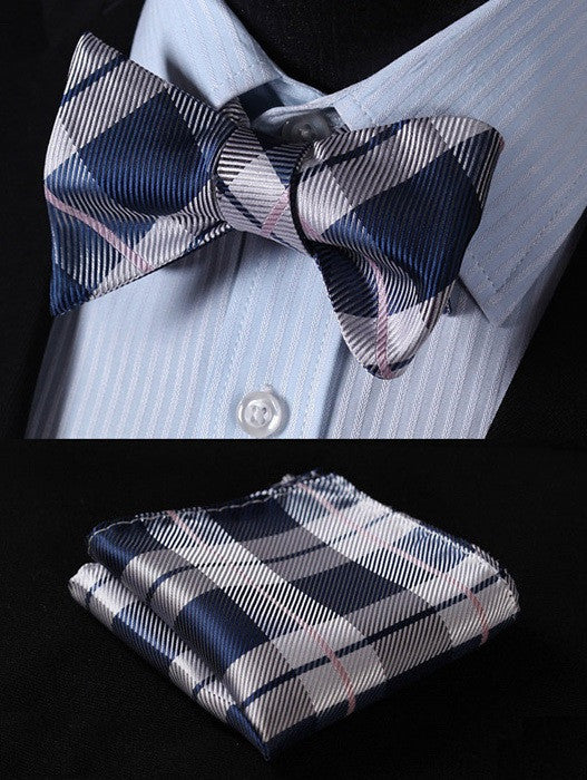 Blue Horizon- w/ Pocket Square - Uptown Ties