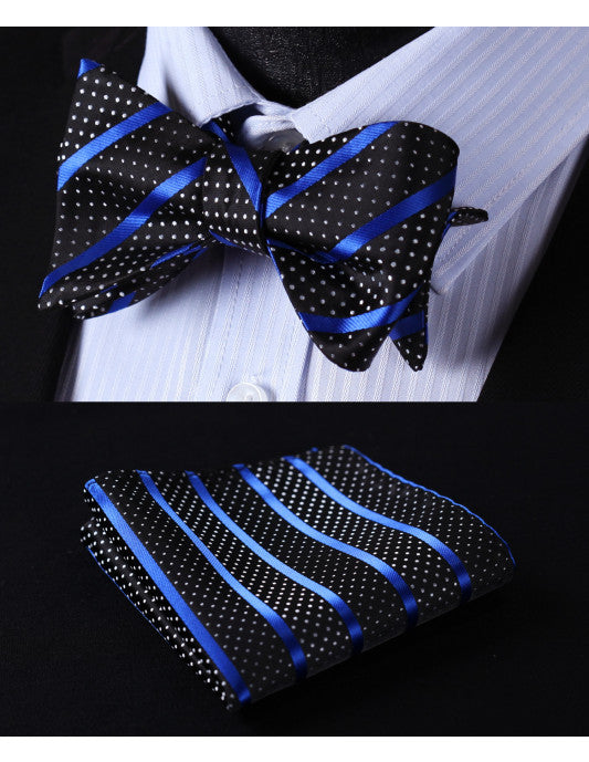 City Lights Blue: 2pc Set - Uptown Ties