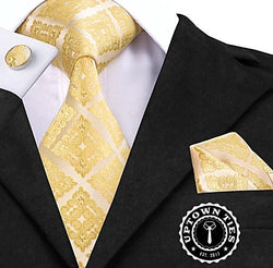All Gold Everything: 3pc Set - Uptown Ties