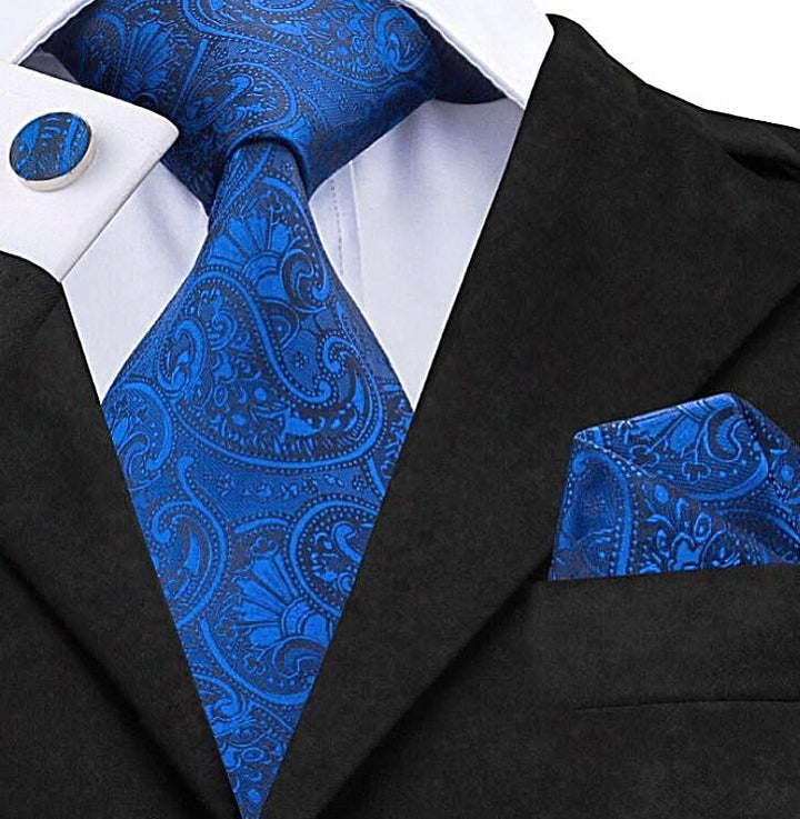Pure Blue Paisley: 2pc Set - Uptown Ties