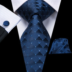 Blue Geo: 3pc - Uptown Ties