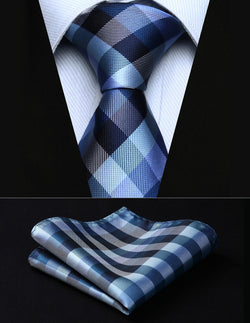 The Blue Jay - w/ Pocket Square - Uptown Ties