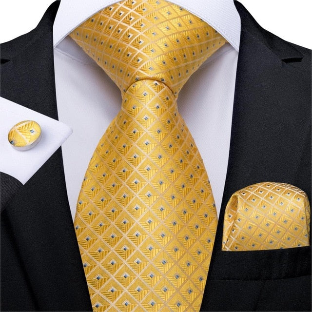 Yellow Squares: 3pc - Uptown Ties