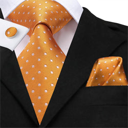 Orange Polka (2-3 Day Shipping) - Uptown Ties