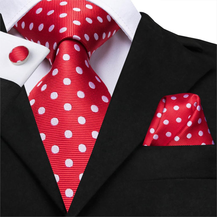 Red/White Polka: 3pc Set - Uptown Ties