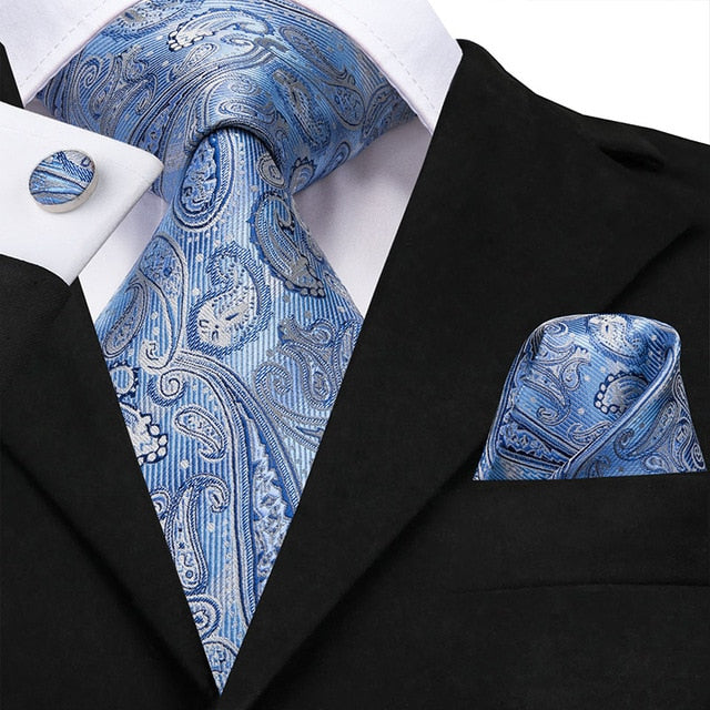 Silver Blue: 3pc - Uptown Ties
