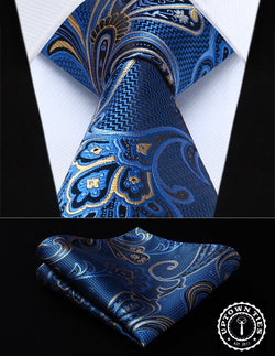 Blue Paisley: 2pc Set - Uptown Ties