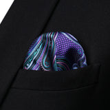 Purple Aqua Paisley - w/ Pocket Square - Uptown Ties