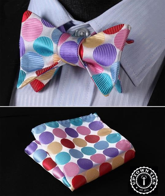 Multi Color Polka: 2pc Set - Uptown Ties