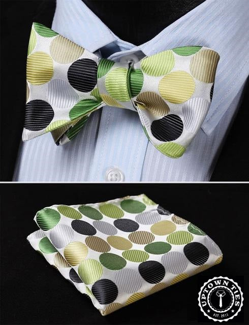 Green Polka: 2pc Set - Uptown Ties
