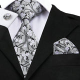 Silver Floral: 3pc Set - Uptown Ties