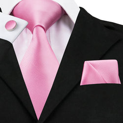 Pink Solid: 3pc Set - Uptown Ties