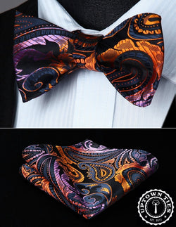 Dusk Paisley: 2pc Set - Uptown Ties