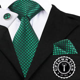 Lucky Green Squares: 3pc Set - Uptown Ties