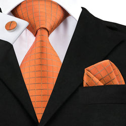 Bold In Orange: 3pc Set - Uptown Ties