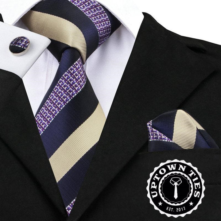 Royal Stripe: 3pc Set - Uptown Ties