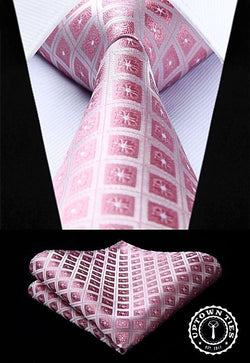 Pink Squares: 2pc Set - Uptown Ties