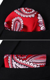 Big Red Paisley: 2pc Set - Uptown Ties