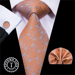 Orange Geo: 3pc - Uptown Ties