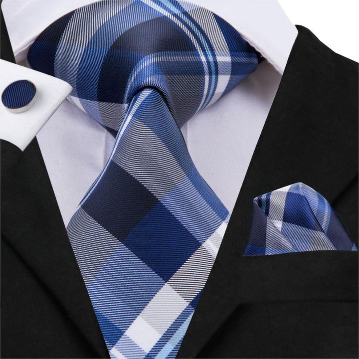Navy Plaid: 3pc - Uptown Ties