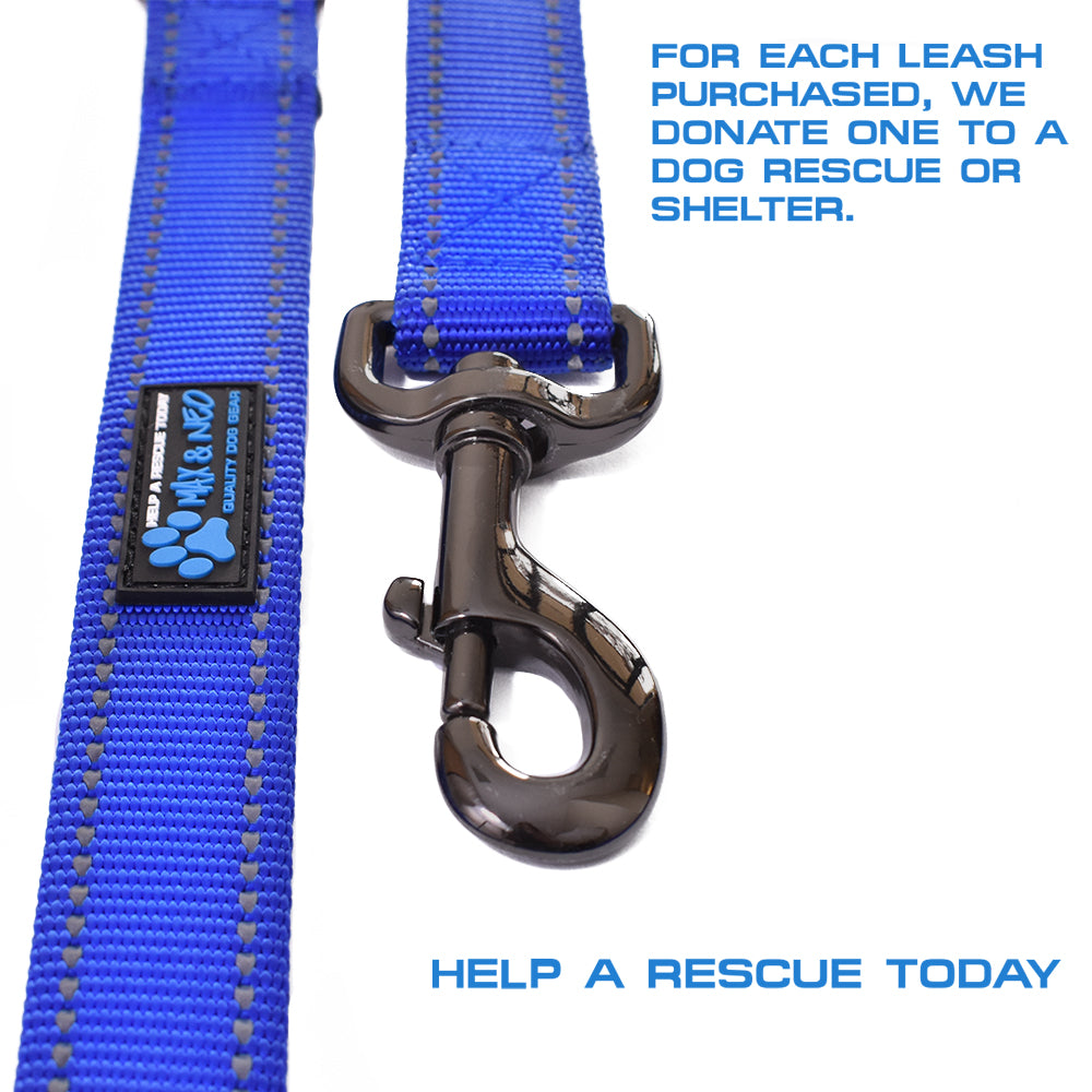 "4 FT x 1"" Wide Nylon Reflective Dog Leash"