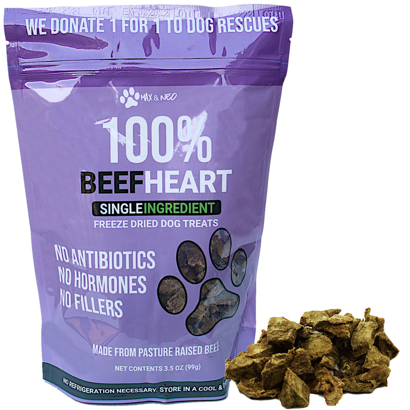 Freeze Dried Beef Heart Dog Treats
