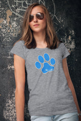Women's Fitted Max & Neo Paw Faded Triblend T-Shirt