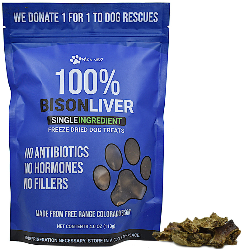 Freeze Dried Bison Liver Dog Treats
