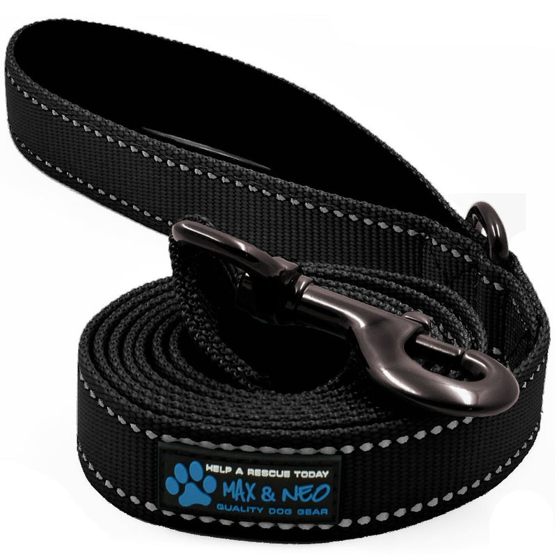 "6 FT x 1"" Wide Nylon Reflective Dog Leash"