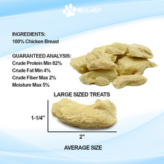 Freeze Dried Chicken Breast Dog Treats