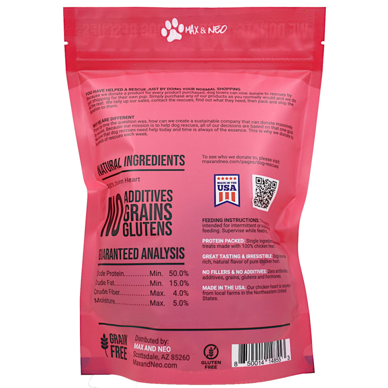 Freeze Dried Chicken Heart Dog Treats
