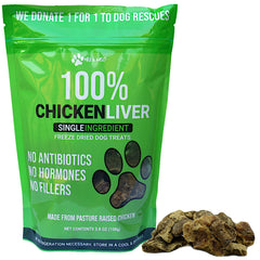Freeze Dried Chicken Liver Dog Treats