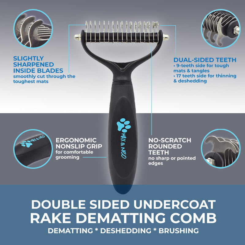 Double Sided Undercoat Rake Dematting Comb