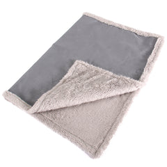 Faux Suede and Fleece Dog Blanket