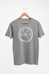 RESCUE Triblend Faded White Print T-Shirt