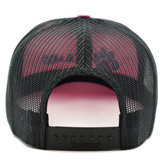 Max and Neo Pink on Black Trucker Baseball Cap