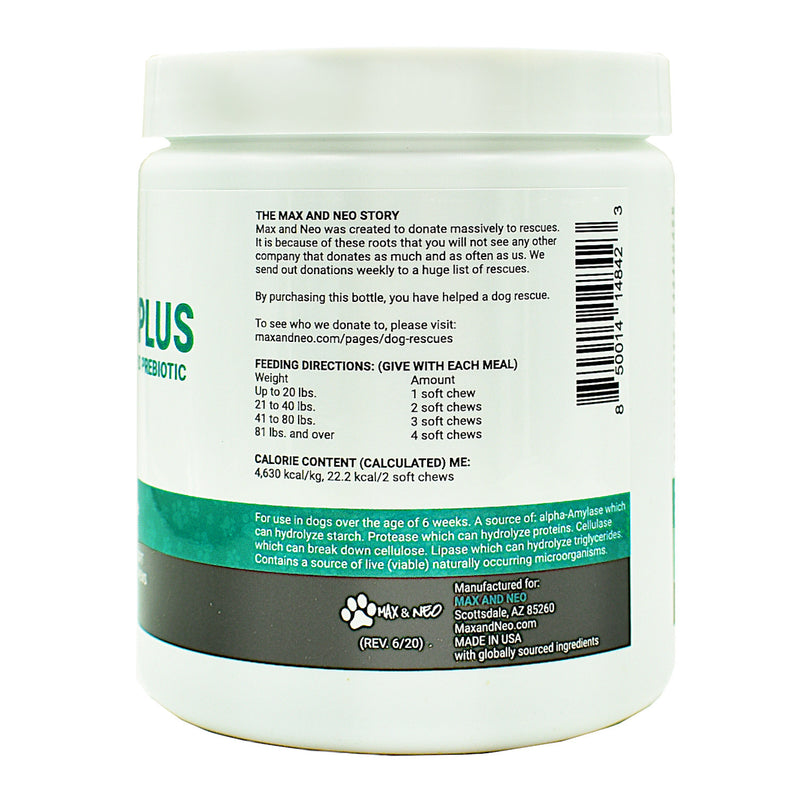Probiotic Plus Soft Chews with Digestive Enzymes and Prebiotic