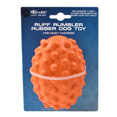 Ruff Rumbler Super Heavy Chewer Rubber Toy