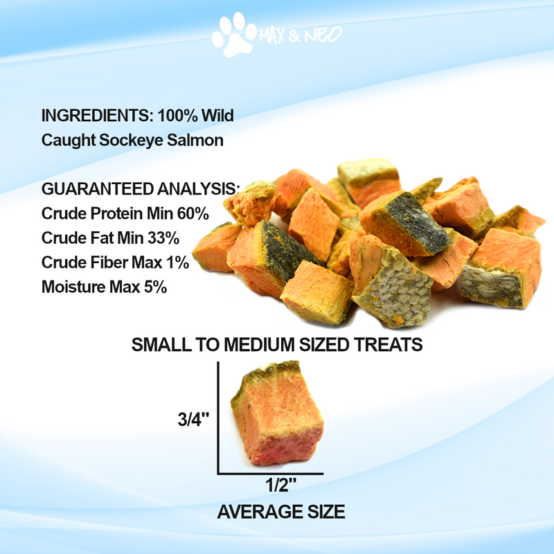 Freeze Dried Wild Caught Sockeye Salmon Dog Treats