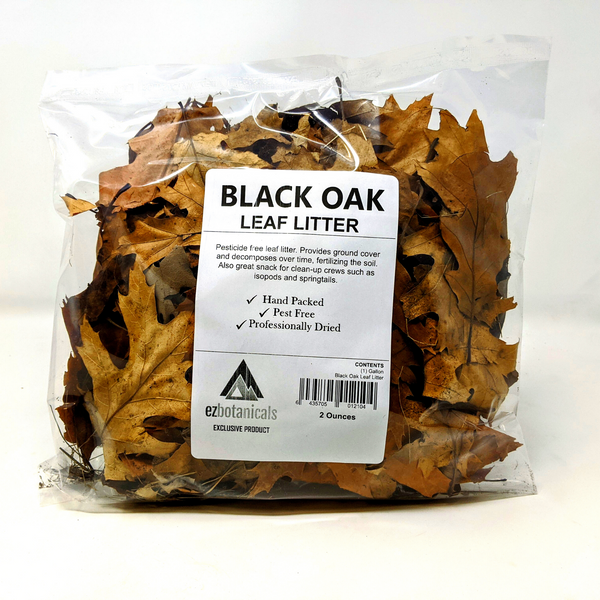 Black Oak Leaf Litter 2.5oz ( 4 Quarts )