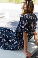 Charcoal Crackle Caftan - Imperfect