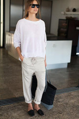 Slouch Pant - Flax
