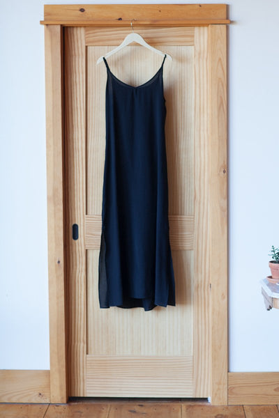 Maxi Slip Dress - Black