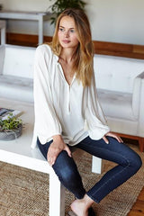 Bardot Tunic - Ivory - Imperfect