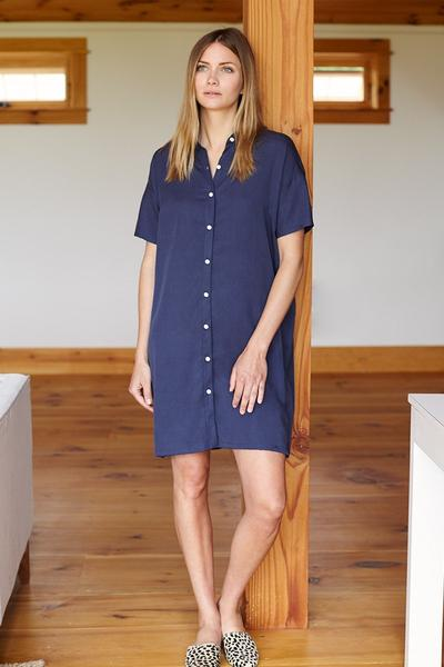 Emerson T Dress - Navy - Imperfect