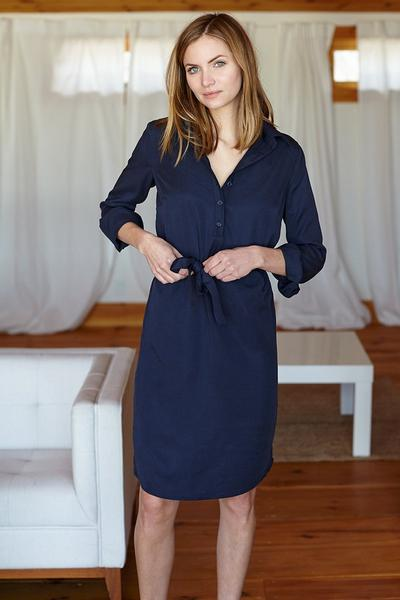 Shirtdress - Navy - Imperfect