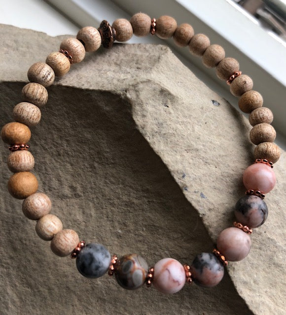 NEW! Wooden and Stone Bracelets